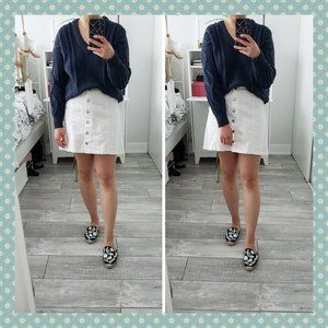 BNWT Madewell Navy Cable Knit Sweater